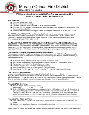 Fillable Online mofd WUI Chapter 7A Checklist - Moraga