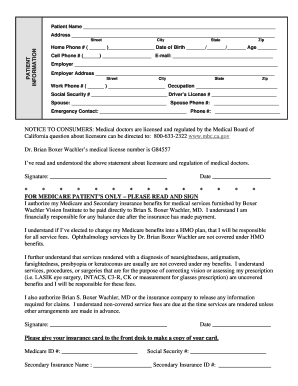 Editable free patient encounter form template - Fill Out, Print ...