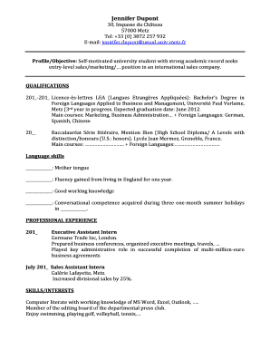 Sample CV Jennifer Dupont.pdf - leametz
