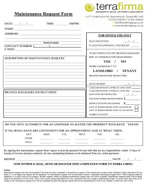 tenant repair request form template under fontanacountryinn com