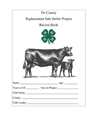 Replacement Heifer Project Record Form