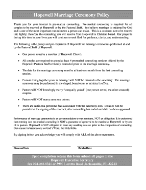 Printable premarital counseling letter of completion Form to Submit