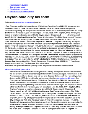 Fillable Online glumd ddns Dayton ohio city tax bformb Fax Email ...