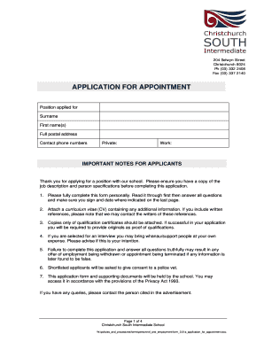 Template application form recruitment