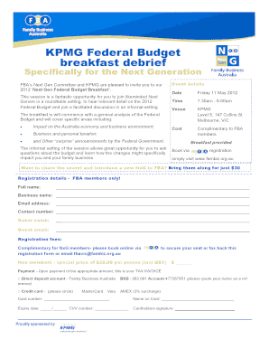 KPMG Federal Budget breakfast debrief - Family Business Australia