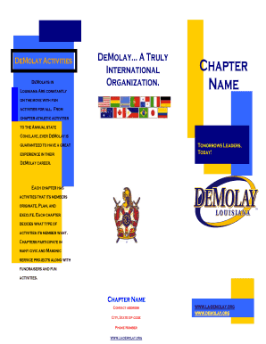 Promotional Brochure Template - La-Demolay.org - la-demolay