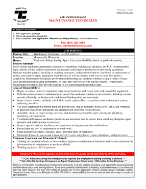 Fillable Online Fill Out Job Application Completely Fax