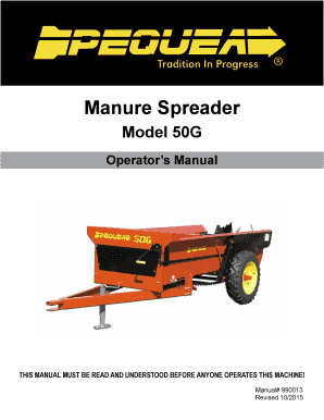 pequea 50g manure spreader manual form