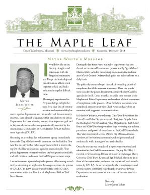 The Maple Leaf - City of Maplewood