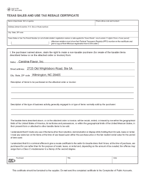 Fillable texas sales and use tax permit Forms and Document