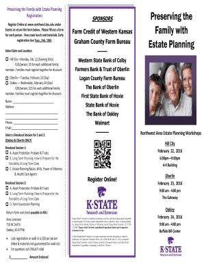 Estate Planning Brochure - Graham County Extension Office - graham k-state