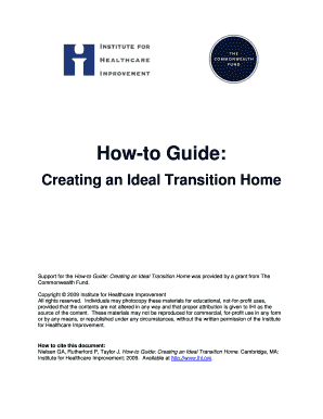 ihihowtoguidecreatinganidealtransitionhomedocx - alliantquality