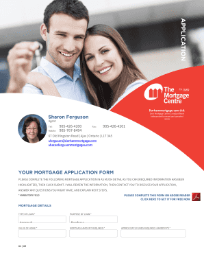 Each Mortgage Centre Canada office is independently owned and operated 10231 Sharon Ferguson Agent Tel: Mobile: 9054264200 9057678494 Fax: 9054264201 67 Old Kingston Road Ajax Ontario L1T 3A5 sferguson durhammortgage