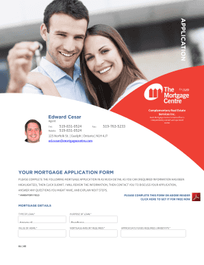 Edward Cesar Agent Tel: Mobile: 5198310524 5198310524 Fax: 5197635233 Each Mortgage Centre Canada office is independently owned and operated 10242 125 Norfolk St