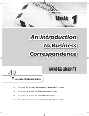introduction to business correspondence form