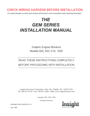 Fillable Online Gem Install.indd. FAA Form 337; Major repair and ...