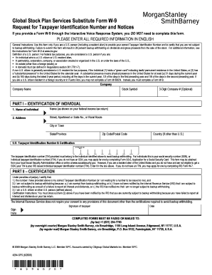 Global Stock Plan Services Substitute Form W 9 - Fill Online