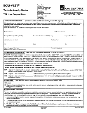 Axa Tsa Loan Request Form