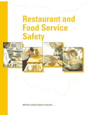 Fillable business objectives examples for a restaurant