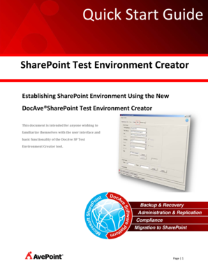 SharePoint Test Environment Creator