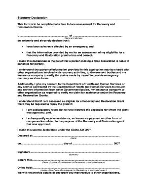 20 printable statutory declaration victoria form templates.