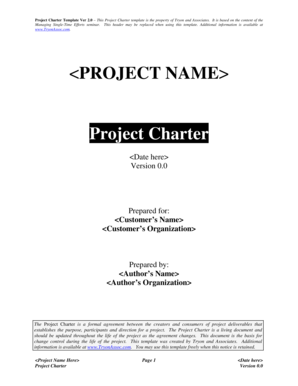 Sample project charter for healthcare manuals and guides in pdf