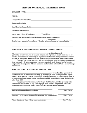 refusal of medical treatment form Refusal Of Medical Treatment - Fill Online, Printable, Fillable ...