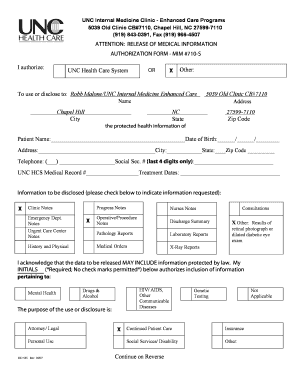AUTHORIZATION FORM - MIM #710-S I authorize: To use or ...