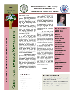 November 2008 Newsletter Template - Georgia Federation of ... - gafwc