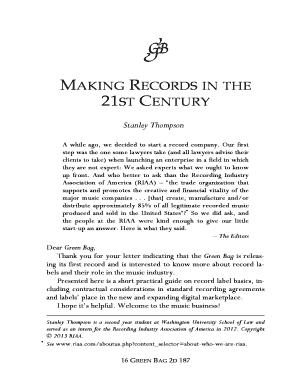record label contracts templates - editable record label contract pdf fill print
