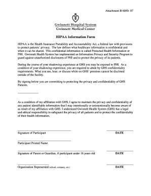 gwinnett medical center medical records Gwinnett Medical Center Hipaa - Fill Online, Printable, Fillable ...