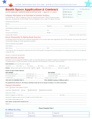 Sample company profile forms and templates fillable for Exhibitor prospectus template