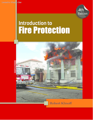 Introduction to Fire Protection, 4th ed. - NelsonBrain - cengagebrain com