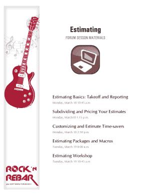 Fillable Online Estimating