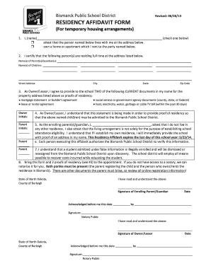 Bill of sale form texas residency affidavit templates fillable residency affidavit form bismarck public schools altavistaventures Image collections