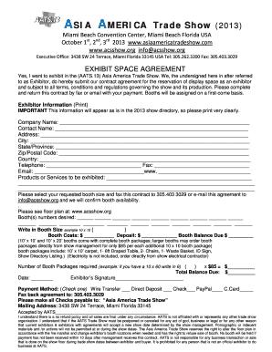 asia america trade booth contract pdf