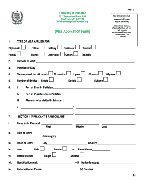 Pakistan Visa Form - Fill Online, Printable, Fillable, Blank ...