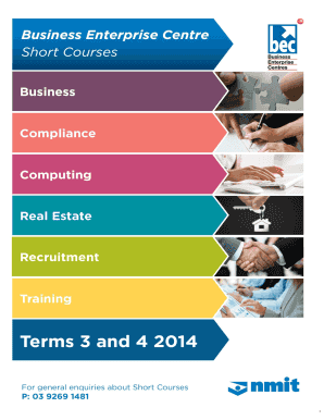 Summary Short Courses For Recordkeeping Industry Professionals