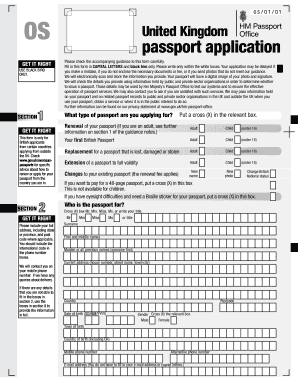 Passport Application Form Uk - Fill Online, Printable, Fillable ...