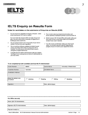 ielts empty testreport form pdf re marking fill online printable