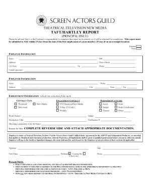 Blank Taft Hartley Background - Fill Online, Printable