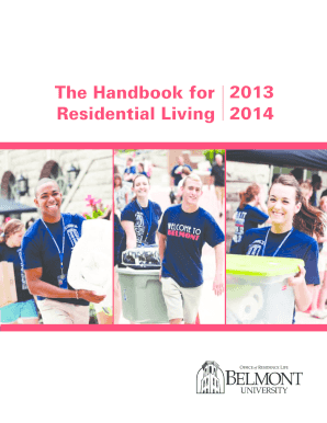 2013 2014 The Handbook for Residential Living - Belmont University - belmont