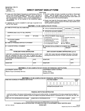 standard form 1199a  Fillable Online Standard Form 5A (EG) OMB No Fax Email ...