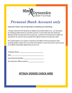 hire dynamics webcenter Hire Dynamics Direct Deposit - Fill Online, Printable, Fillable ...