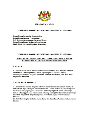 Fillable Online Kerajaan Malaysia Pekeliling Kontrak Treasury Fax Email Print Pdffiller