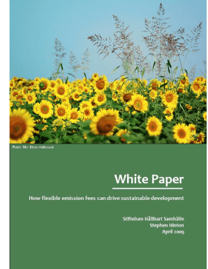 WHITE PAPER - The Swedish Sustainable Economy Foundation - tssef