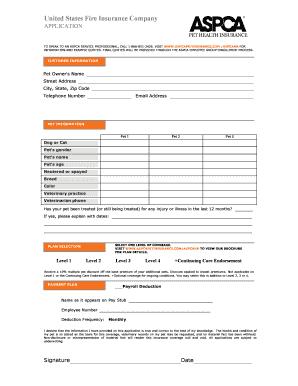aspca claim forms Aspca Insurance Claim Form - Fill Online, Printable, Fillable, Blank ...