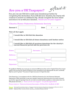 Gift letter template uk to download in word pdf editable gift aid form 2013 tuberous sclerosis spiritdancerdesigns Choice Image