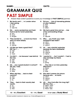 Past simple - questions