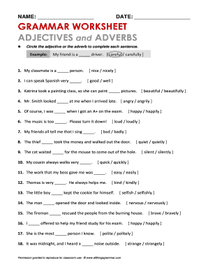 Circle The Adjective Or Adverb To Complete Each Sentence 1 My Classmate